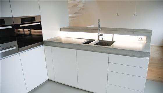 Fles design srl piani di lavoro per cucina lavabi e - Piani cucina cemento ...